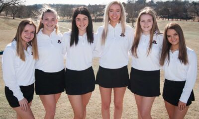 Richard R. Barron | The Ada News Members of the 2021 Ada High School golf team include, from left to right: Ava Patterson, Kate McCortney, Emily Kemp, Ava Manwell, Kylie Cutler and Lexie Inslee. Ava Patterson (Fr) Kate McCortney (Fr) Emily Kemp (So) Ava Manwell (Fr) Kylie Cutler (Jr.) Lexie Inslee (So)