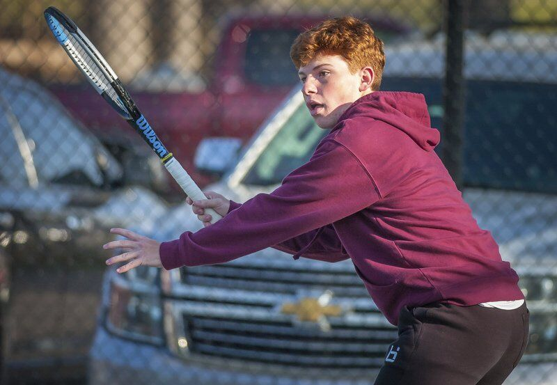 Richard R. Barron | The Ada News -- Ada junior Boady Ross finished second in No. 2 Singles at a Class 5A Regional Tournament on Monday.